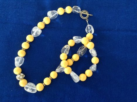 Yellow necklace & bracelet